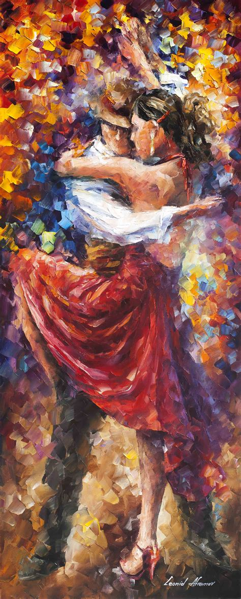TANGO OF MOVEMENT — PALETTE KNIFE Oil Painting On Canvas