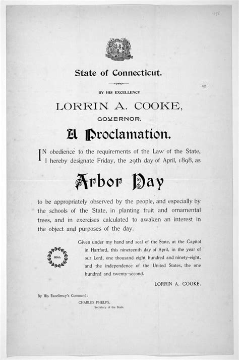 Connecticut Arbor Day Proclamation - Fonts In Use