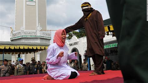 Indonesian couple caned for violating Sharia law, police