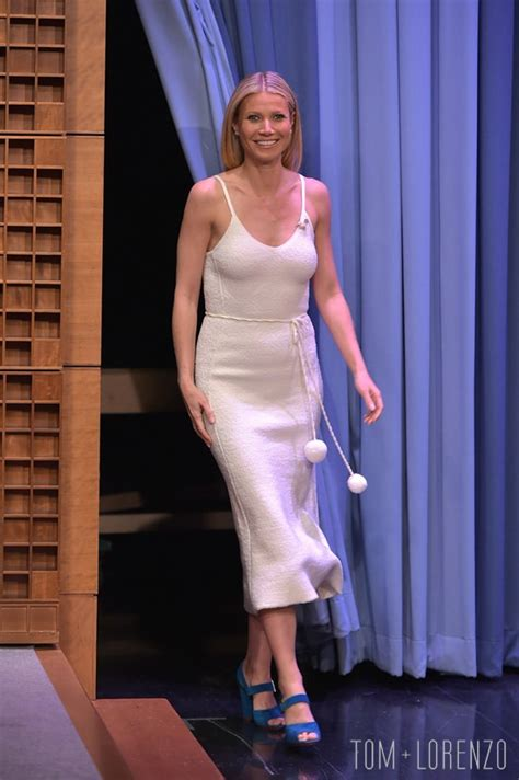 """Gwyneth Paltrow in Victoria Beckham on """"The Tonight Show"""