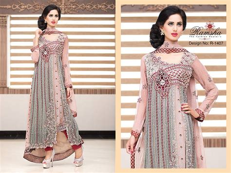 Latest Party Wear Long frocks for Ladies Collection 2018-2019