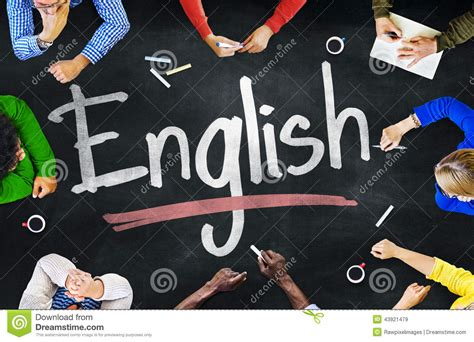 Multiethnic Group Of Children And English Concept Stock