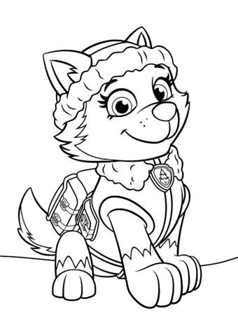 Paw Patrol Everest coloring page | Free Printable Coloring
