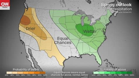 NOAA Spring Outlook: Above Average Temperatures Across USA