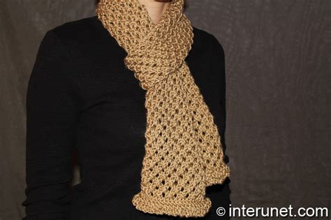 How to knit a cell pattern scarf | interunet