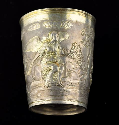 18th century antique Imperial Russian silver cup, 186g