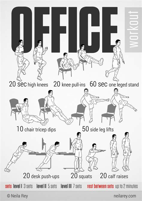 Activate those resolutions at work!   Office exercise