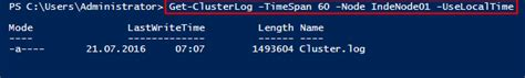 Windows Server 2016 Failover-Cluster: Troubleshooting mit
