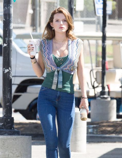 Bella Thorne in Tight Jeans - On the Set of 'You Get Me